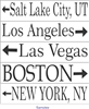"""Your City"" with Arrow Graphic 24 x 5.5"" Custom Personalized Stencil"