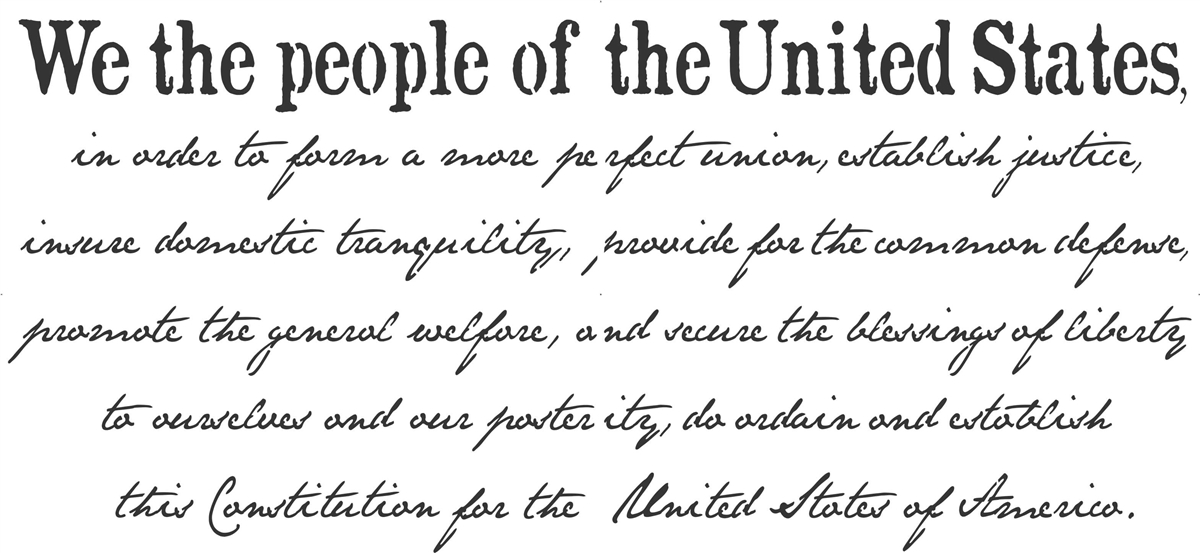 we the people constitution preamble 46 5 x 22 wording