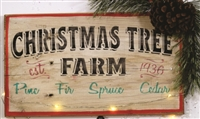 Christmas Tree Farm  est. 1936 Pine Fir Spruce Cedar Stencil Three Size Choices