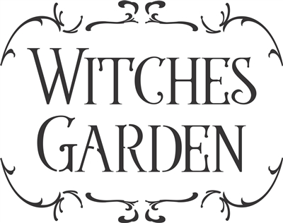 "Witches Garden 12 x 9.5"" Stencil"