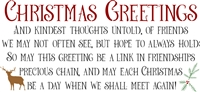 Christmas Greetings and kindest thoughts...of friends