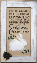 "HERE COMES PETER COTTONTAIL... w/ Bunny Graphic 10 x 20"" Stencil"
