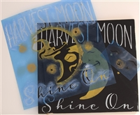"Harvest Moon Shine On -with full moon graphic 12 x 12"" Stencil"