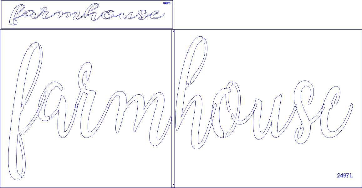 farmhouse Stencil script font Three Size Choices