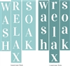 Wash Relax Soak Stencil set Two Style Choices -Large Size