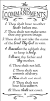 The Ten Commandments Stencil -Two Size Choices