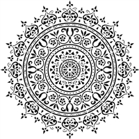 Mandala Design Stencil -Three Size Choices