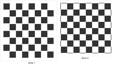 "Checkerboard 2"" -Two Styles -Our Easiest Way to Create a Game Board!"