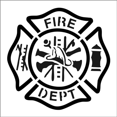 Fire Dept Stencil Three Size Choices