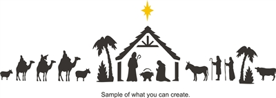 Large Nativity Scene Stencil Set -Two Size Choices