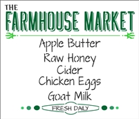 The Farmhouse Market... Fresh Daily Stencil -Two Size Choices