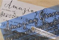 "Amazing Grace ""sheet music style"" with Note Graphics 40 x 28"" Stencil"