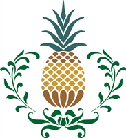 Primitive Pineapple Graphic Stencil -Three Size Choices
