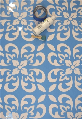 Graphic Tile Style 1 Stencil  -Two Size Choices
