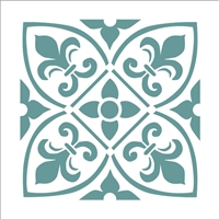 Graphic Tile Style 2 Stencil  -Three Size Choices