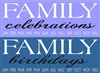 "FAMILY celebrations or birthdays with Months 22 x 8"" Stencil"