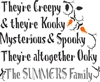 "They're Creepy & they're Kooky... The ""Your Name"" Family Personalize It Yourself Set"