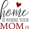 "home IS WHERE YOUR MOM IS 11.5 x 11.5"" Stencil"