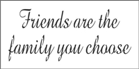 "Friends are the family you choose 8 x 4"" Stencil"