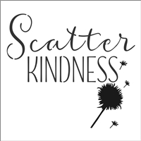 "Scatter Kindness 11.5 x 11.5"" Stencil with Dandelion Graphic"