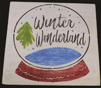 "Winter Wonderland in Snow Globe Graphic 12 x 12"" Stencil"
