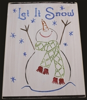 "Let It Snow with Snowman Graphic 9 x 12"" Stencil"