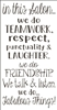 "in this Salon... we Teamwork, respect...Fabulous Things! 12 x 23"" Stencil"