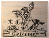 Welcome Stencil -Two Size Choices Stencil Cow, Pig, Goat Graphics