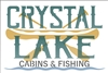 CRYSTAL LAKE CABINS & FISHING with Canoe Graphic