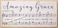 "Amazing Grace ""sheet music style"" with Note Graphics 24 x 11.5"" Stencil"