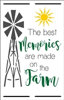 "The best memories are made on the farm 11.5 x 18"" Stencil"