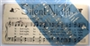 "Silent Night ""sheet music style"" with Note Graphics 24 x 12"" Stencil"