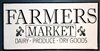 FARMERS MARKET DAIRY PRODUCE DRY GOODS Stencil -Two Size Choices