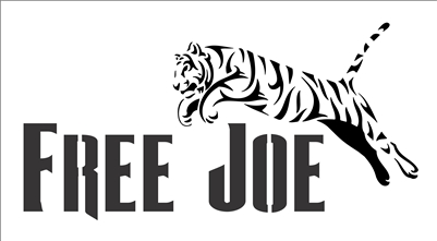 "FREE JOE with Tiger graphic 10 x 5.5"" Stencil"