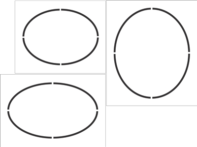 Oval Shapes Stencil Set