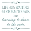 "Life Isn't About Waiting for the Storm to Pass... 12 x 12"" Stencil"