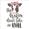 "this heifer don't take no BULL  11.5 x 18"" Stencil w/ Cow Graphic"