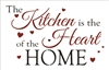 "The Kitchen is the Heart of the Home 22 x 14"" Stencil w/ Hearts"