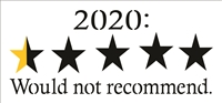 "2020: Would not recommend. 12 x 5.5"" Stencil Yelp Style Rating w/ Stars"