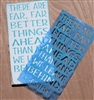 There Are Far, Far Bettering Things Ahead... C.S. Lewis -Two Styles Stencil