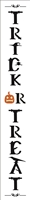 Trick Or Treat Vertical Stencil -Two Size Choices