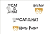 "Book Titles Set 12 x 8"" Stencil The Cat in the Hat and Harry Potter"