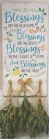 Blessings On The Blossoms Blessings On The Roots... bird/flower/pear graphics Stencil - Two Size Choices