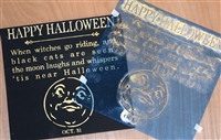 Happy Halloween When witches go riding... w/ Vintage Moon Graphic Stencil -Three Size Choices