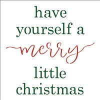 have yourself a merry little christmas Stencil -Two Size Choices