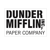"Dunder Mifflin, Inc Paper Company 12 x 8"" Stencil (The Office)"