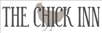 "The Chick Inn w/ Chicken graphic 18 x 6"" Stencil"