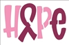 "Hope Ribbon Cancer Awareness 12 x 8"" Stencil"
