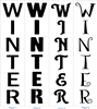 "WINTER Vertical 9 x 40"" Stencil -Four Font Choices Perfect for Porch Sign"