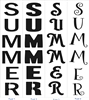 "SUMMER Vertical 9 x 40"" Stencil -Four Font Choices Perfect for Porch Sign"